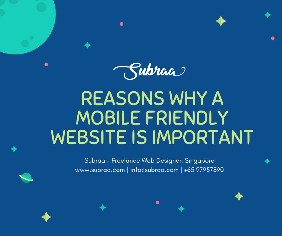 Reasons why a Mobile Friendly Website is important