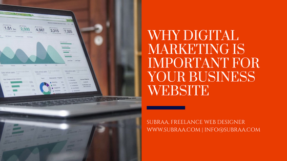 Why Digital Marketing is important for your Business Websites